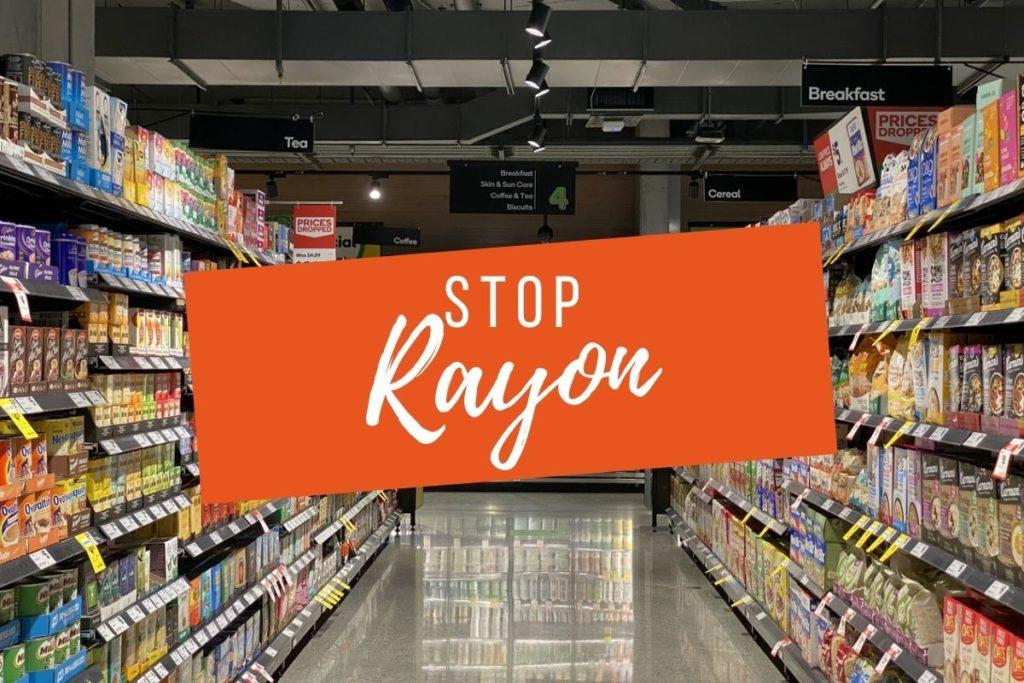Impression stop rayon