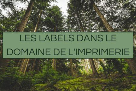 Les labels en imprimerie